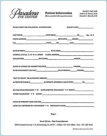 Patient Information Form